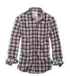 eagle plaid double-weave shirt